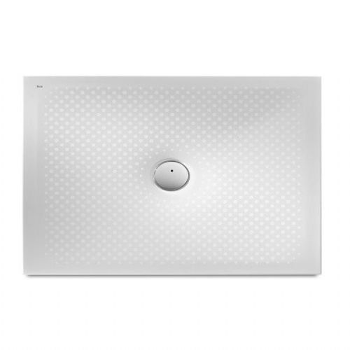 Roca In Floor Anti-Slip Rectangular Shower Tray - 1200mm x 800mm - White